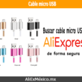 Comprar cable micro USB en AliExpress +10
